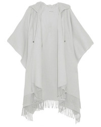 Poncho de lana gris de Balenciaga