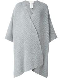 Poncho de lana gris de MICHAEL Michael Kors