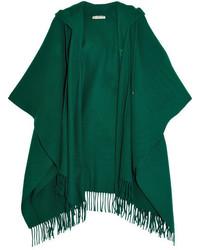 Poncho de lana verde de Balenciaga