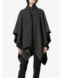 Poncho en gris oscuro de Balenciaga