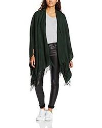 Poncho verde oscuro de Only