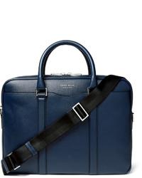 Portafolio de cuero azul marino de Hugo Boss