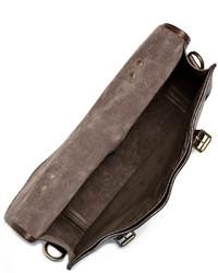 Portafolio de cuero en marrón oscuro de Mulberry