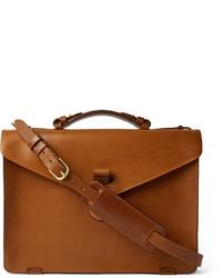 Portafolio de cuero marrón claro