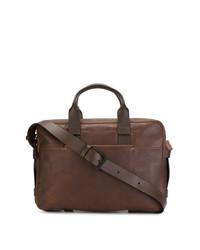 Portafolio de cuero marrón de Troubadour