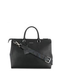 Portafolio de cuero negro de Burberry