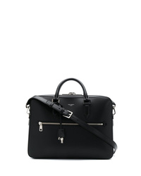 Portafolio de cuero negro de Dolce & Gabbana