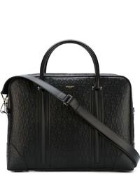 Portafolio de cuero negro de Givenchy