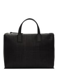 Portafolio de cuero negro de Loewe