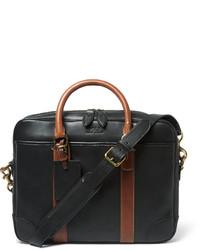 Portafolio de cuero negro de Polo Ralph Lauren