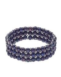 Pulsera azul marino de Pearls & Colors