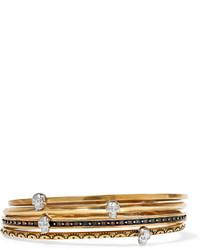 Pulsera con adornos dorada de Alexander McQueen