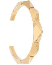 Pulsera con estampado geométrico dorada de Chloé