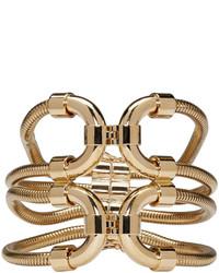 Pulsera con print de serpiente dorada de Lanvin
