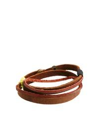 Pulsera de cuero en marrón oscuro de Classics 77