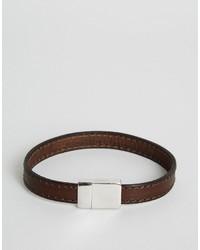 Pulsera de cuero en marrón oscuro de Ted Baker