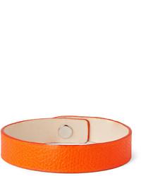 Pulsera de cuero naranja de Valextra
