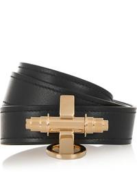 Pulsera de cuero negra de Givenchy