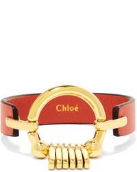 Pulsera de cuero roja de Chloé