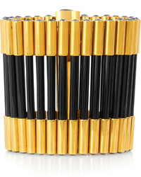 Pulsera en negro y dorado de Alexander McQueen