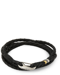 Pulsera tejida negra de Paul Smith