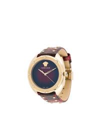 Reloj con adornos morado oscuro de Versace