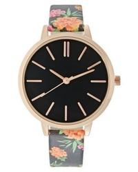 Reloj con print de flores en multicolor de New Look