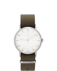 Reloj de ante en marrón oscuro de Issey Miyake Men