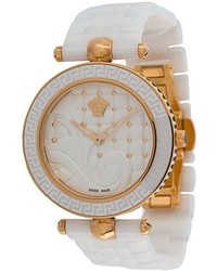 Reloj de cerámica blanco de Versace