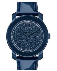 Reloj de cuero azul marino
