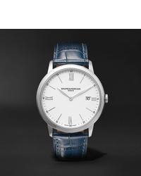 Reloj de cuero azul marino de Baume & Mercier