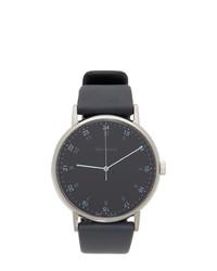 Reloj de cuero azul marino de Issey Miyake Men