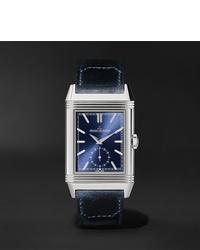 Reloj de cuero azul marino de Jaeger-LeCoultre