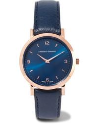 Reloj de cuero azul marino de Larsson & Jennings