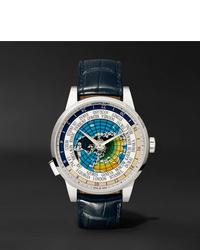 Reloj de cuero azul marino de Montblanc