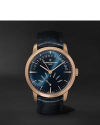 Reloj de cuero azul marino de Vacheron Constantin