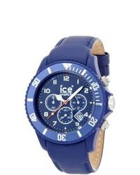 Reloj de cuero azul