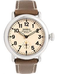 Reloj de Cuero Beige de Shinola
