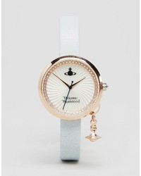 Reloj de cuero celeste de Vivienne Westwood