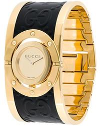 Reloj de cuero dorado de Gucci