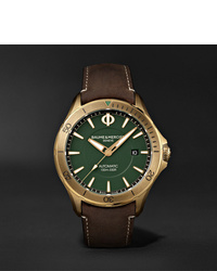 Reloj de cuero en marrón oscuro de Baume & Mercier