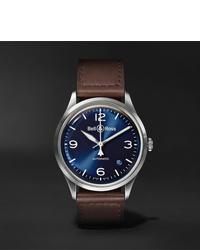 Reloj de cuero en marrón oscuro de Bell & Ross