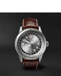 Reloj de cuero en marrón oscuro de Breitling
