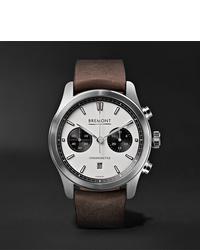 Reloj de cuero en marrón oscuro de Bremont