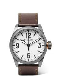 Reloj de cuero en marrón oscuro de Filson