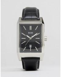 Reloj de cuero en marrón oscuro de Hugo Boss