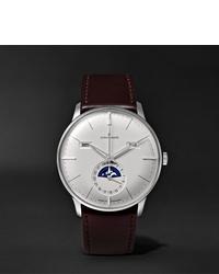 Reloj de cuero en marrón oscuro de Junghans