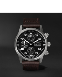 Reloj de cuero en marrón oscuro de Maurice de Mauriac