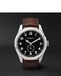 Reloj de cuero en marrón oscuro de Montblanc
