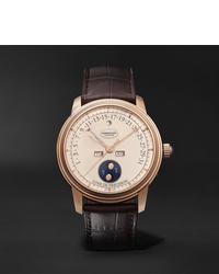 Reloj de cuero en marrón oscuro de Parmigiani Fleurier